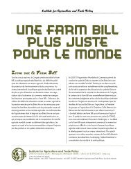 Une Farm Bill plus juste pour le monde - Institute for Agriculture and ...