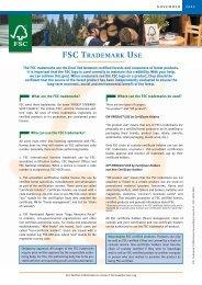 FSC TRADEMARK USE