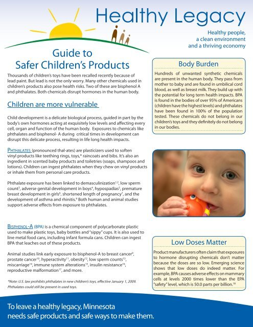 Guide to Safer Children's Products - Canadian Partnership for ...