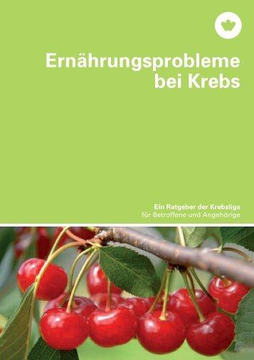 Broschüre - Ernährungsprobleme bei Krebs - Krebsliga Schweiz