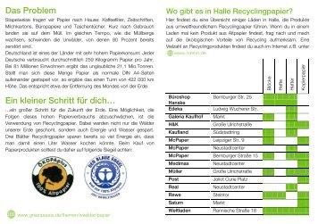 """""""Recycling"""" Halle - Greenpeace Gruppen in Deutschland"""