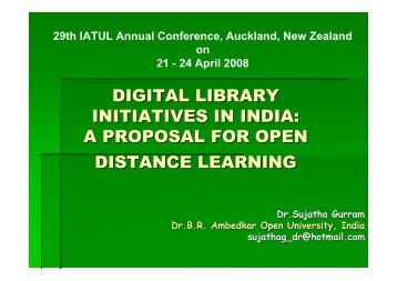 DIGITAL LIBRARY INITIATIVES IN INDIA: A PROPOSAL ... - IATUL