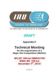 Technical Document - International Association of Ultra Runners