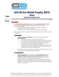 50kmtrophyseries - International Association of Ultra Runners