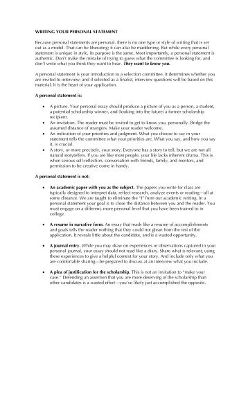 how to make a personal statement