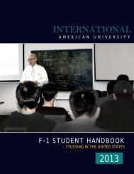 F-1 Handbook - International American University, Los Angeles, CA ...