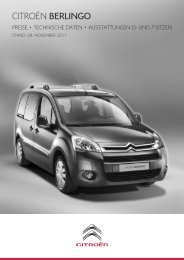 Ausstattung, technische Daten, Maße und Preise ... - Auto Sedlmeier