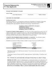 Student Financial Statement - Iowa Valley Community College District