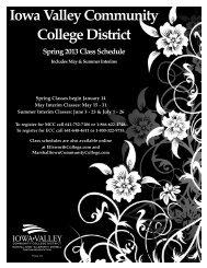 MCC Spring/Summer Schedule 2013 - Iowa Valley Community ...