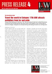 Press Release 4 - February 2013 (PDF) - IAW Messe