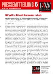 IAW geht in Köln mit Bestmarken zu Ende - IAW Messe