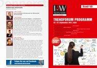 Trendforum Programm - IAW Messe