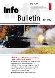 Bulletin Nr. 1/13 - Verein Schweizer Armeemuseum