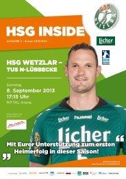 Saison 2013/2014 - HSG Wetzlar