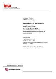 Beschäftigung, Auftragslage und Perspektiven im ... - TU Berlin
