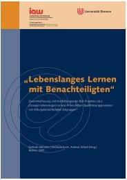 """""""Lebenslanges Lernen mit Benachteiligten"""" - am Institut Arbeit und ..."""