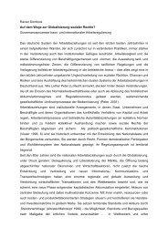 Auf dem Wege zur Globalisierung sozialer Rechte? - am Institut ...