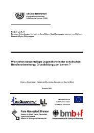 Freie Hansestadt Bremen - am Institut Arbeit und Wirtschaft ...