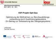 Vortragsfolien - am Institut Arbeit und Wirtschaft - Universität Bremen