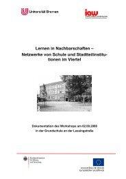Lernen in Nachbarschaften – Netzwerke von Schule und ...