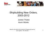 Shipbuilding New Orders Shipbuilding New Orders, 2003-2012