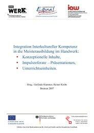 Integration Interkultureller Kompetenz in die Meisterausbildung im ...