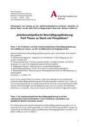 Thesenpapier - am Institut Arbeit und Wirtschaft
