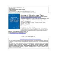 Journal of Education and Work