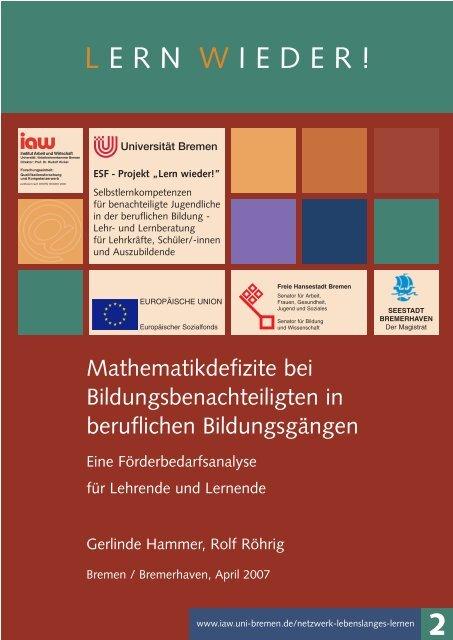 Lesen - am Institut Arbeit und Wirtschaft - Universität Bremen