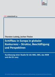 Schiffbau in Europa in globaler Konkurrenz - IG Metall - Bezirk Küste