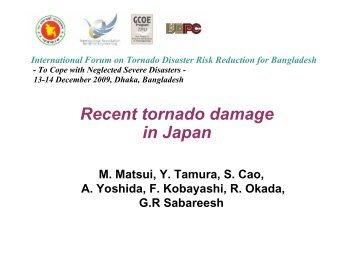 Recent tornado damage in Japan - IAWE International Associations ...
