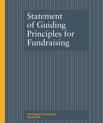 Statement of Guiding Principles for Fundraising