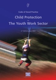 Child Protection for the Youth Work Sector - Department of Children ...