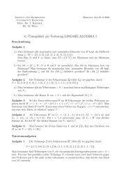 U6 - Institut für Algebra, Zahlentheorie und Diskrete Mathematik