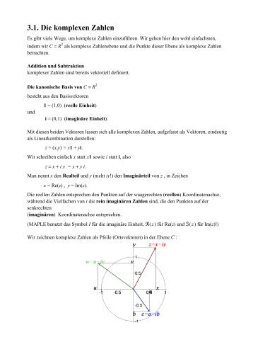3.1. Die komplexen Zahlen