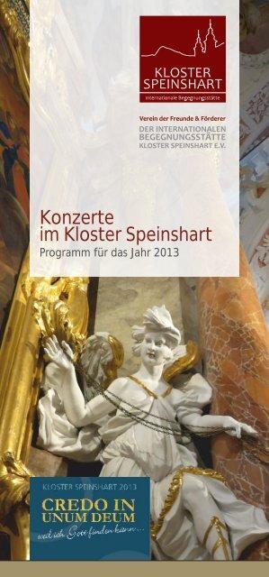 Konzerte 2013 - 2. Auflage - Kloster Speinshart