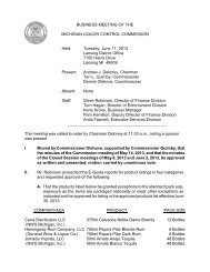 Business Meeting Minutes, June 11, 2013 - State of Michigan