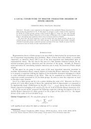 A LOCAL CONJECTURE ON BRAUER CHARACTER DEGREES ...