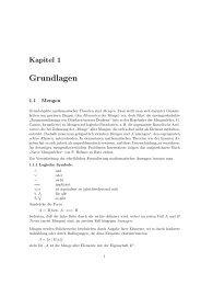 Grundlagen - Institut für Algebra, Zahlentheorie und Diskrete ...