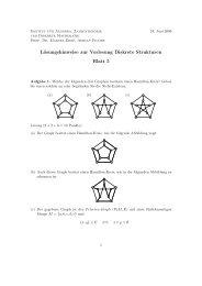 Lösungshinweise zur Vorlesung Diskrete Strukturen Blatt 5