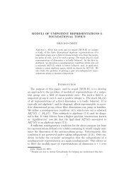 Moduli of unipotent representations I: foundational topics - an der ...