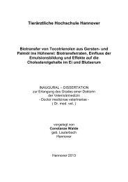 Tierärztliche Hochschule Hannover - TiHo Bibliothek elib