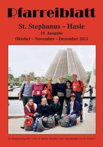 Pfarreiblatt - Hasle