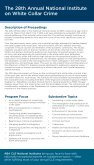 White Collar Crime National Institute - American Bar Association - Page 2