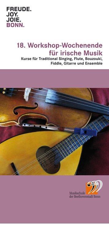 18. Workshop-Wochenende für irische Musik - Bundesstadt Bonn