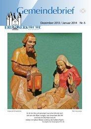 Dezember 2013 / Januar 2014 Nr. 6 - Ev. Erlöserkirchengemeinde ...