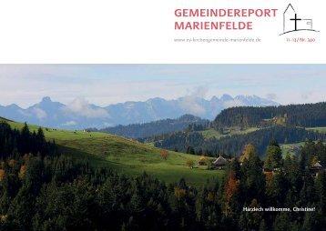 Gemeindereport November 2013 - Evangelische Kirchengemeinde ...