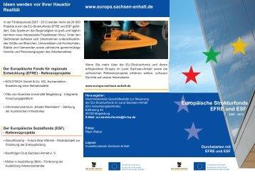 Europäische Strukturfonds EFRE und ESF - Sachsen-Anhalt