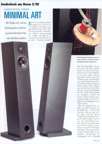 stereo german review «minimal Art - Audio Physic