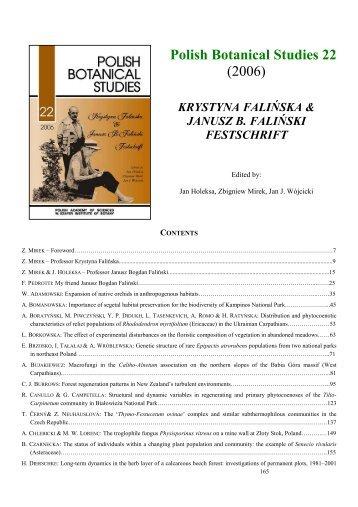 Polish Botanical Studies 22 (2006)